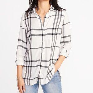 Women's Old Navy Plaid Button Down Classic Shirt